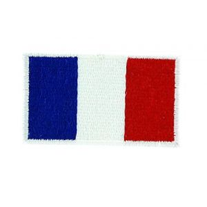 Patch écusson brodé drapeau france français thermocollant backpack sac à dos (Akachafactory, neuf)