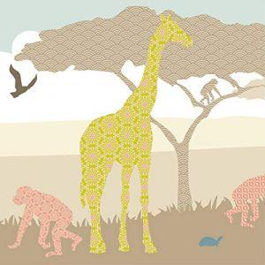 """anna wand design frise murale auto-adhésive, 450 x 11,5 cm, motif africain avec les animaux sauvages """"Hello Afrika"""" coleurs naturelles, pour chambre d'enfants (design your home, neuf)"""