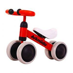Arkmiido Baby Balance Bike, Vélo sans Pédales enfant, Porteur Bebe 1-3 ans premier vélo, tricycle bebe (Dukibuyeu, neuf)
