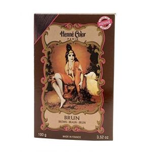 Henné Color Poudre Colorante Brun 100g (Worlds End Natural Products, neuf)