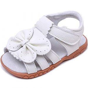 Gaatpot Fille Cuir Souple Sandales Enfants Confortables Flexibles Sandales à Bout Ouvert Beach Sandales Chaussure Été 28 EU = 29 CN (Cotouke, neuf)