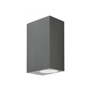 Applique Murale Interieur/Exterieur 35W Lampe d'extérieur Murale Etanche IP54 Applique Luminaire En Aluminium pour Salon Chambre (Gris, Cube) (Realux, neuf)