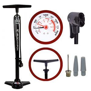VeloChampion Pro Pompe a Pied Cycliste Haute Pression Pro High Pressure Track Pump (Noir) (Maxgear Ltd, neuf)