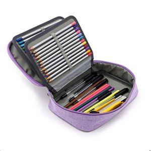 Trousse à Crayons de Couleurs Professionnel 72 Trous Plumier Grande Capacité Multifonction Sac à Crayons 4 Couches Trousse de Stylos en Chiffon Abrasif Étanche Simple Mode pour Enfant Adulte (LONGTENGUK, neuf)