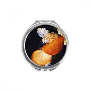 DIYthinker méduses tropical marine organism miroir rond maquillage de poche à la main portable 2,6 pouces x 2,4 pouces x 0,3 pouce Multicolore (bestchong, neuf)