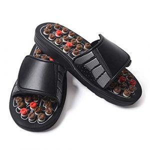 Pantoufles de massage réglables Coussin de massage des pieds Pantoufles de santé pour hommes et femmes Outils de massage des pieds (1 paire),45 (wei tang 168, neuf)
