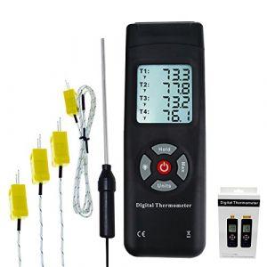 Testeur De Capteur Thermocouple De Type K Avec Thermomètre À 4 Canaux (Milano Europe, neuf)