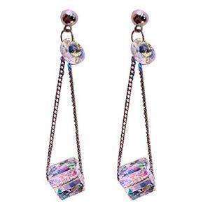 Boucles D'oreilles Pour Dames Rondes Nacre élément Plat/rond Brillant Clou D'oreilles Femme (WeiKeYa, neuf)