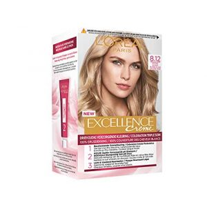 Coloration L OREAL EXCELLENCE N°8.12 BLOND CLAIR CENDRE IRISE (produits discount, neuf)