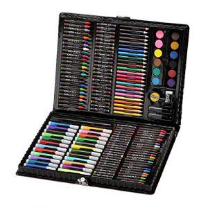 Sets de Dessin - 168Pcs Crayon de Couleur Professionnel - Serria Malette de Coloriage Enfants Aquarelle Crayon Enfants Dessin Artiste Kit Crayons de Couleur Ensemble Crayon Peinture À L'huile Pinceau (Serria, neuf)