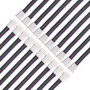 BTF-LIGHTING 10 Paires 5pin SM JST Mâle/Femelle 15cm Câble De Fil De Connecteur Pour Flexible 5050 RGBW RGBWW LED Lumière (BTF-LIGHTING EU, neuf)