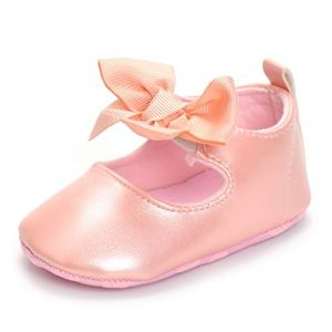 ESTAMICO Chaussure bébé Premier Pas Ballerines bébé Fille,Rose 6-12 Mois (Lacofia, neuf)
