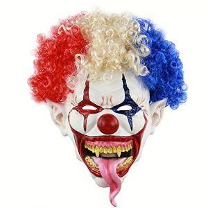 Tête Explosive Grande Bouche Longue Langue Masque Clown Halloween Latex Horreur Tête Fantôme (WyaEU, neuf)