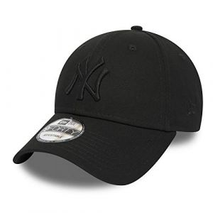 New Era 9forty Strapback Casquette MLB Yankees de New York Los Angeles Dodgers Hommes Femmes Casquette Chapeau Bundle avec UD Bandana - NY Noir/Noir 2771, Adjustable (urbandreamz, neuf)