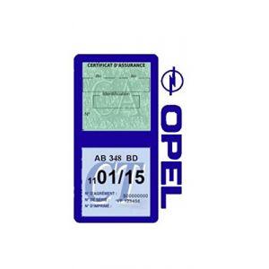 Générique Étui Double Assurance Opel Bleu foncé Porte Vignette adhésif Voiture Stickers Auto Retro (Stickers-auto-retro, neuf)