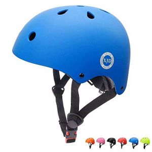 """XJD réglable Casque pour Enfant Kid Casque de vélo pour Multisport BMX Cyclisme Skateboard, XJD-KH102M, Bleu, M: 55-57 cm / 21.65""""-22.44 (XJD Store, neuf)"""