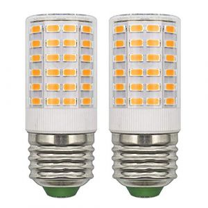 Lot de 2 Ampoules LED E27 12V AC/DC 24V CC Basse Tension Compacte 5W Blanc Chaud Remplace les Ampoules Halogènes Edison 50W 60W E27 (Non Haute Tension 230V), Ampoules Candélabre E27 Non Dimmable (ZHENMING-LED, neuf)