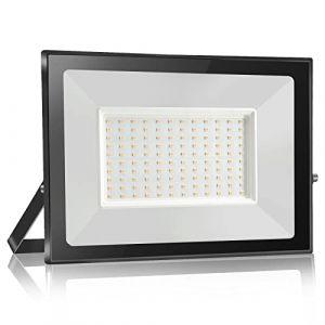 bapro 100W Projecteur Led,Eclairage Extérieur LED,IP65 Spot Led Extérieur Blanc Chaud(3000K). Projecteur à LED, Lumières d'inondation.pour éclairage public, garage, jardin[Classe énergétique A++] (Bapro, neuf)