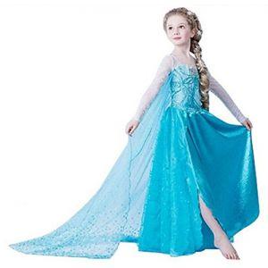 ELSA & ANNA® Filles Reine des Neiges Princesse Partie Costumée Déguisements Robe de Soirée FR-DRESS-SEP302 (3-4 Ans, FR-SEP302) (UK1STCHOICE-ZONE, neuf)