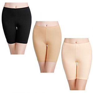 wirarpa Shorty Long Boxer Femme Jambes Longues Anti-Friction Cycliste Coton Lot de 3 Culotte Short Legging Invisible Taille M (GELV, neuf)