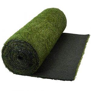 WerkaPro 10690 - Gazon Artificiel - Épaisseur 3 cm - 1 x 4 m ( 4m2 ) - Très Résistant - Traitement Anti UV (Provence Outillage, neuf)