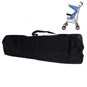 Universelle Sac Poussette Canne, Sac de Transport pour Poussettes, Pochettes Bandoulière Imperméable Léger Rangement Organisation Poussettes avec, pour Avion, Voyage, voiture,Outdoor - Noir (huhushopuk, neuf)