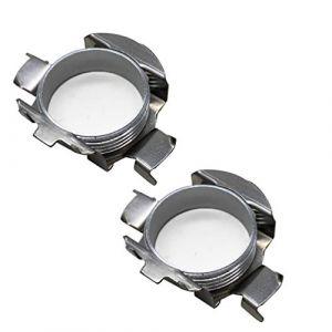 KOOMTOOM 2 pièces métal LED H7 ampoules adaptateurs support de base de lampe clip de support pour golf 5 serie/ford kuga 1 serie/carens/fiesta mk7 / Mazda cx3 (Koomtoom, neuf)