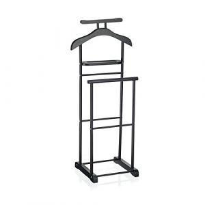 IDIMEX Valet de Chambre Medina chevalet de Nuit Double Portant pour vêtements, en MDF et métal laqué Noir (Mobil Meubles, neuf)