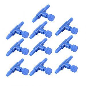 Sourcingmap Plastique Aquarium 2Voies Pompe à air contrôle Vannes, Bleu, 10pièces (Weisser Berg, neuf)