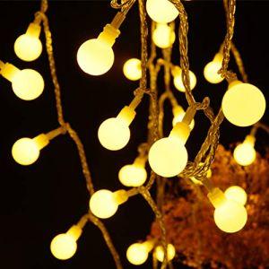RUNACC Guirlande Lumineuse boules, Guirlande Lumineuse pile 60 LED avec Télécommande Alimentation USB Lumières de Globe de Fée pour Chambre, Guirlande, Intérieur, Extérieur, Fête, Mariage, Noël (SMARTSSY, neuf)
