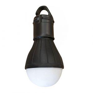 Bloodfin Crochet suspendu lampe tente lumière LED lumière de nuit,Lampe de secours extérieure LED camping tente lanterne de pêche lumière suspendue Long temps d'utilisation (Noir) (Bloodfin, neuf)