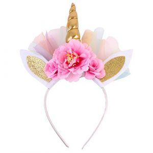 FRCOLOR Bandeau de corne de licorne, bandeau de corne de licorne pour vêtements de bébé, enfant, cosplay (Ansuen, neuf)
