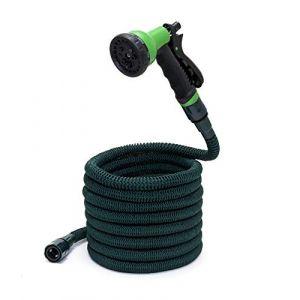 Somera Tuyaux d'arrosage extensible avec pistolet de jardin, Tuyau d'eau avec embout pour robinet (Livero, neuf)
