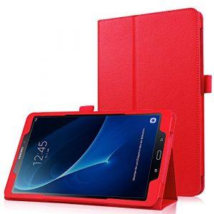 HBorna Galaxy Tab A 10.1 (A6) Coque Etui Housse, Slim Smart Cover Housse de Pochette Protection pour Samsung Galaxy Tab A 10,1 Pouces T580N / T585N (2016 Version) (A6) Tablette, Rouge (HBorna, neuf)