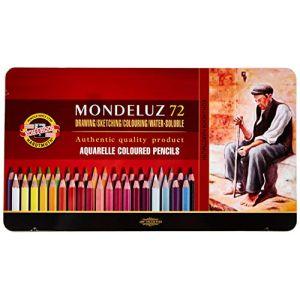 KOH-I-NOOR Mondeluz Crayons de Couleur Aquarelle (Set de 72) (aysiboo, neuf)