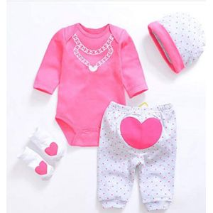 LLX Mode Nouveau-né Vêtements Bébé Reborn Bébé Fille Vêtements De Poupée pour 20-22 Pouces 50-55 Cm Poupée Cadeaux,D (guolinm, neuf)