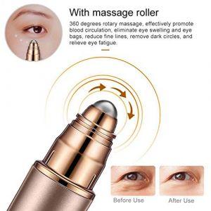 Appareil Massage des Yeux, Vibration à Haute Fréquence élimine les Rides Cernes et Poches,Anti-rides Anti-âge Anion (boyangtongxun, neuf)