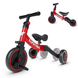 besrey 3 en 1 Vélo Draisienne Tricycle Évolutif pour Enfant, Selle et Guidon Réglable, Vélo sans Pédale pour Bébé 1-3 Ans à Apprentisage d'Équilibre (kookooya_eur, neuf)