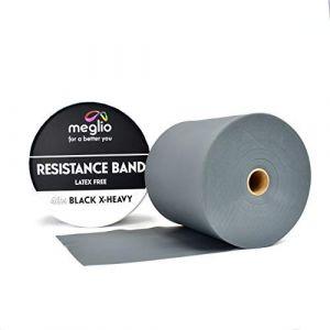 MEGLIO Rouleau 46m Bande Elastique de Resistance sans Latex Bande Elastique Latex Free de Kinésithérapie, Fitness, Musculation, Pilates, Yoga, Rééducation Physique et motrice – 15cm x 46m (meglio, neuf)