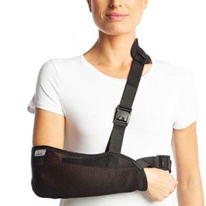 Armoline Écharpe en tissu maille respirant pour adulte Noir cassé Bras Bandage pour poignet cassé d'immobilisation épaule (XL (50-58 cm)) (Medical Import Ltd., neuf)