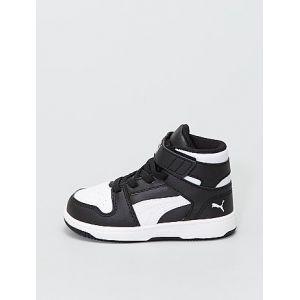 Baskets montantes 'Puma' blanc/noir - Taille 25