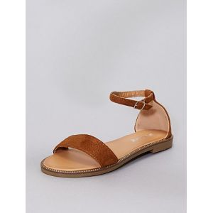 Sandales à strass camel - Taille 38