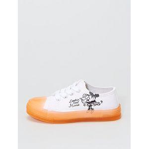 Baskets en toiles 'Minnie' blanc - Taille 28