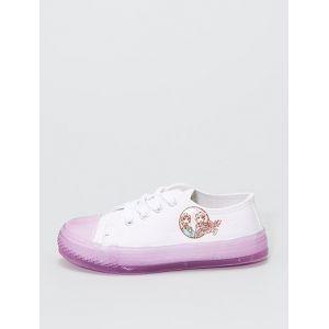 Baskets en toile la 'Reine des Neiges II' blanc/violet - Taille 28