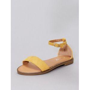 Sandales à strass jaune - Taille 38
