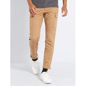 Pantalon battle slim éco-conçu beige - Taille 42