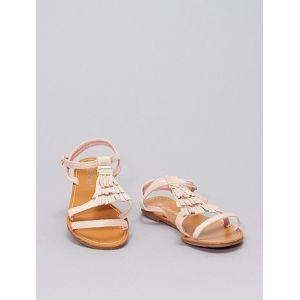 Sandales à franges rose - Taille 37