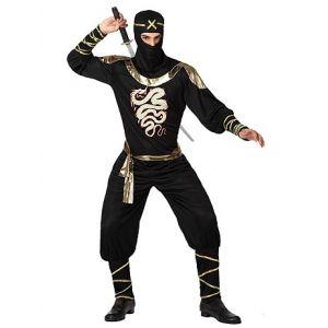 Déguisement de Ninja noir/doré - Taille M/L