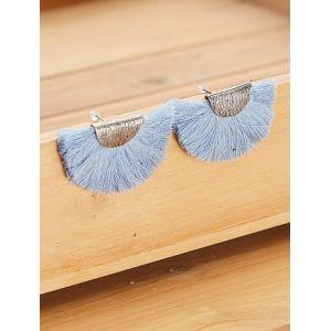 Boucles d'oreilles à pompon bleu - Taille TU