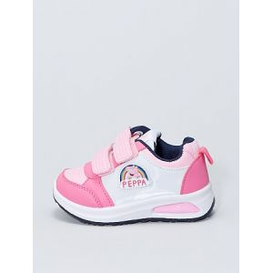 Baskets lumineuses 'Peppa Pig' rose/blanc - Taille 23